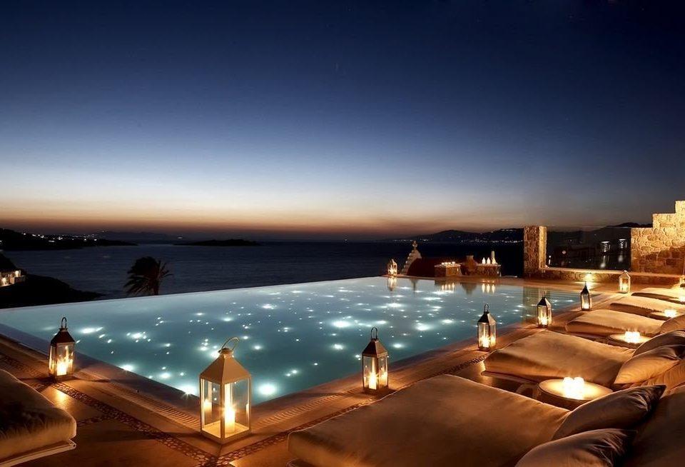 sky night horizon evening dusk morning Sea Sunset sunlight Resort