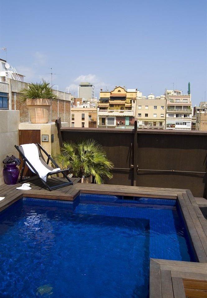 swimming pool property house Sea home waterway dock backyard Villa blue Resort