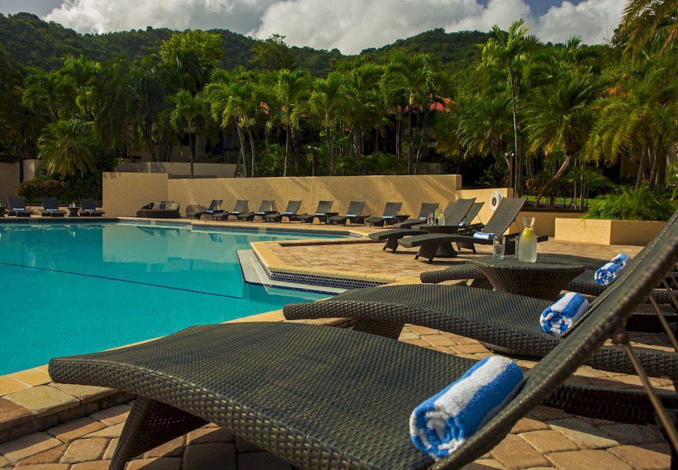 tree leisure swimming pool Resort Sea Villa backyard