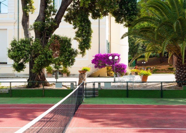 tree tennis structure court Sport sport venue plaza lawn Resort tennis court stadium day