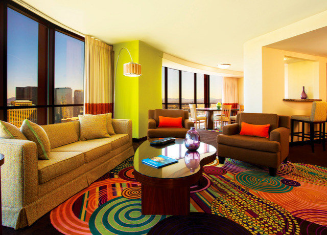 sofa property living room Suite home Resort Villa cottage condominium colorful