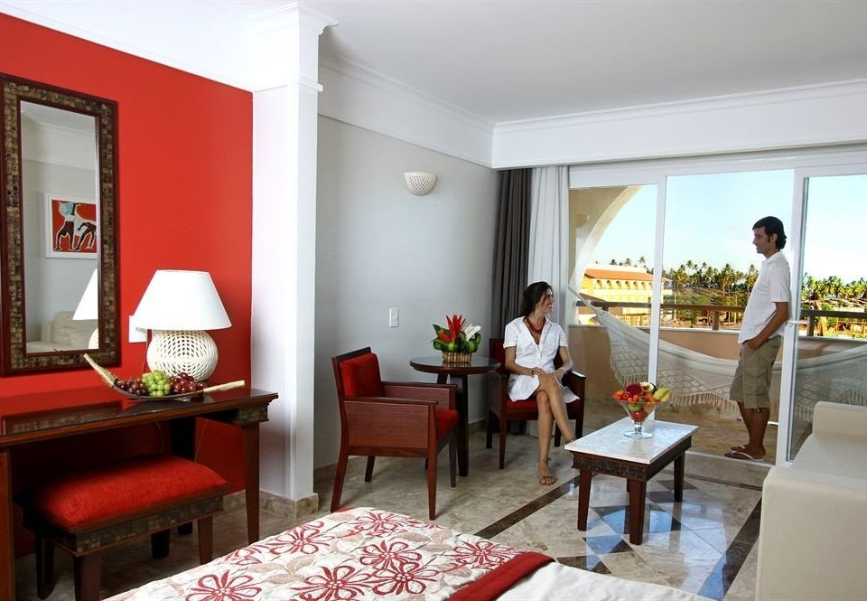 red property Suite home Villa condominium living room Resort cottage flat