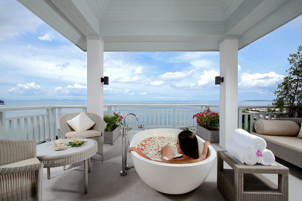 property swimming pool Villa home Resort white condominium living room cottage porch Suite overlooking