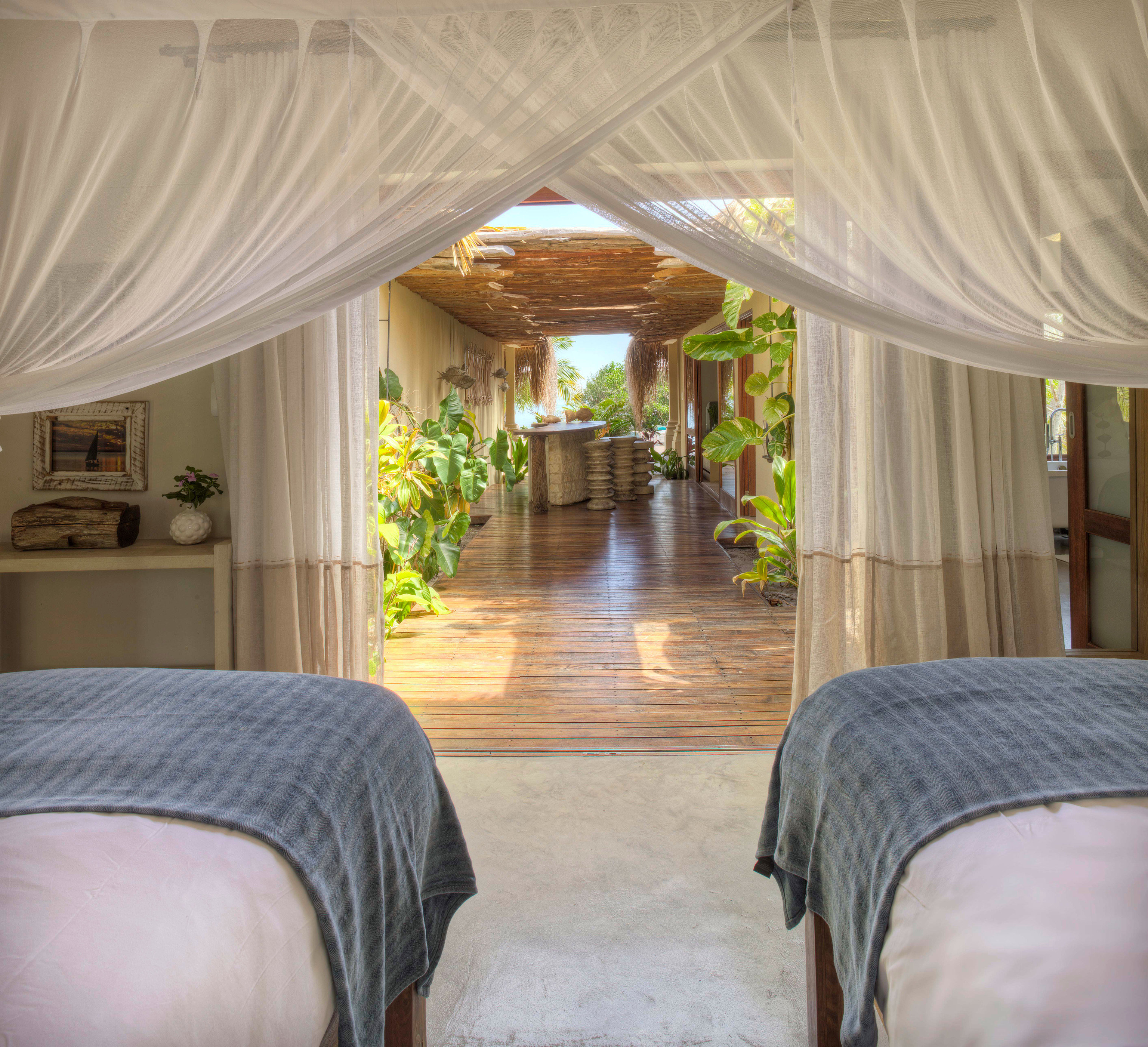 property curtain Resort home mosquito net Villa Suite mansion