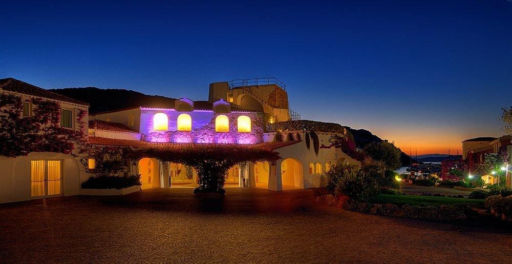 sky light night Town Resort house evening dusk Sunset dark sign