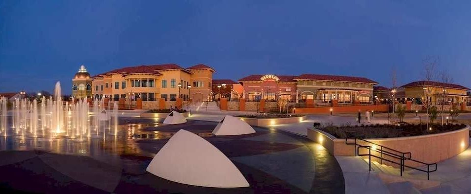 sky property Town Resort plaza evening palace panorama marina
