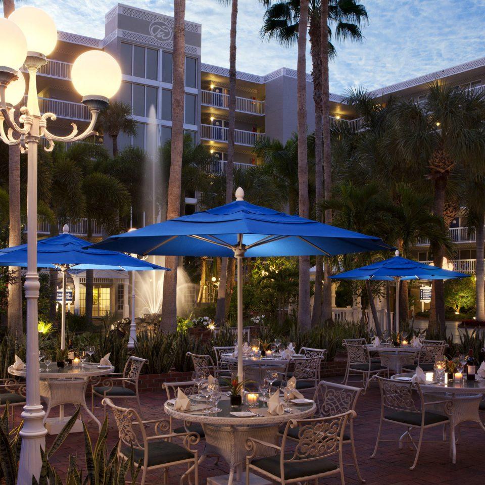 tree Town plaza Resort restaurant lighting