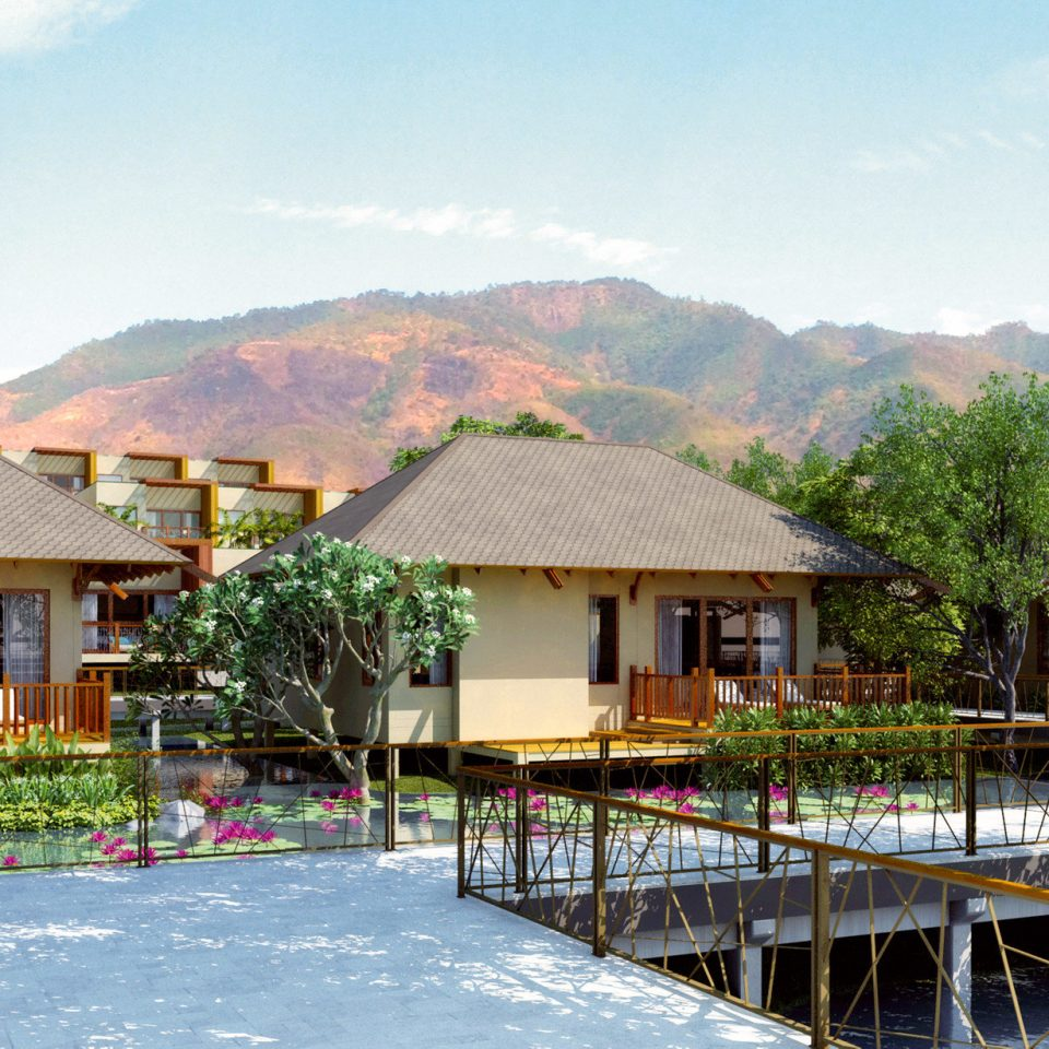 building mountain sky house property Resort home residential area Village cottage Villa Town hut docked sign