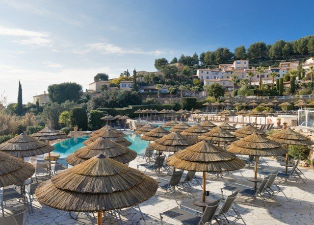 sky Town Resort Village marina panorama set day