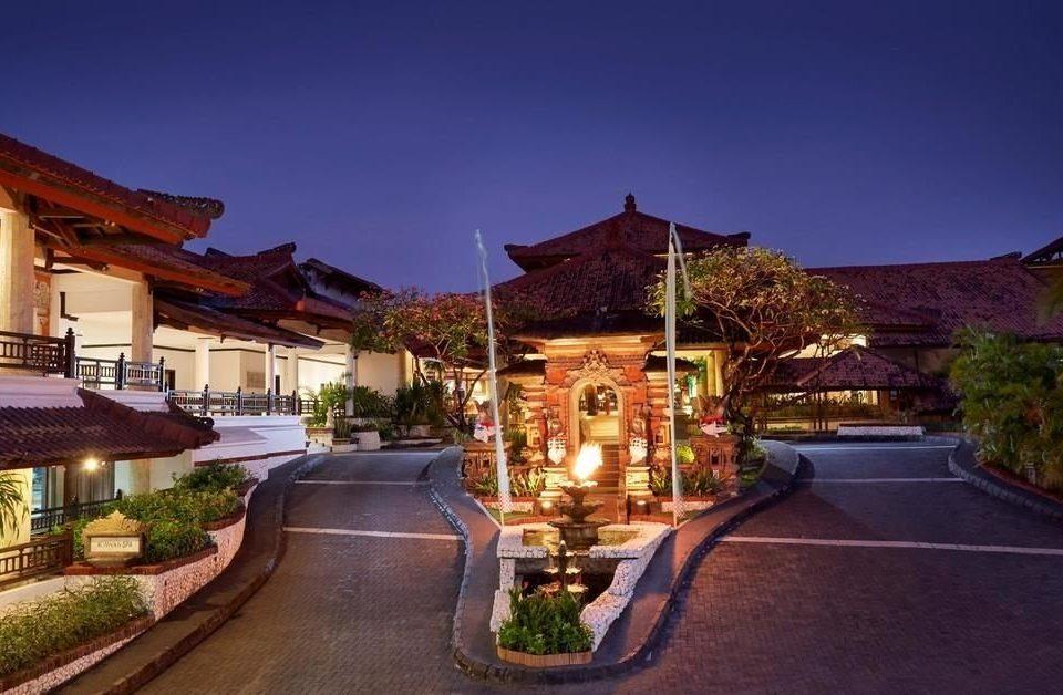 sky Town Resort house plaza lighting Village palace road