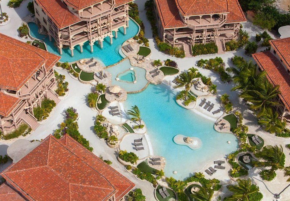 aerial photography bird's eye view neighbourhood Town residential area Resort mansion urban design Water park swimming pool amusement park