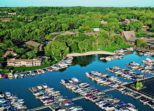 marina leisure bird's eye view aerial photography Town dock residential area Resort port Water park park amusement park