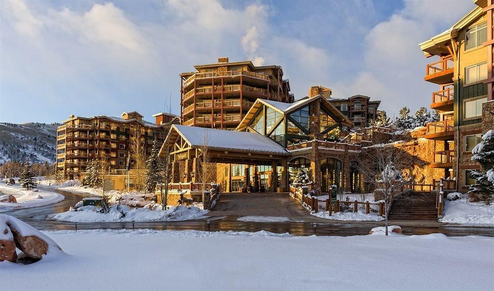 sky snow Winter weather Town season Resort