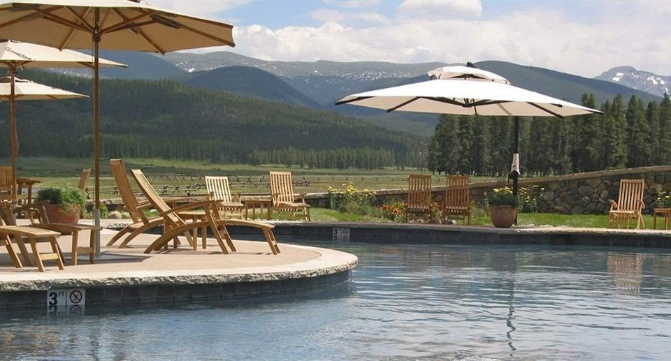 sky umbrella chair mountain leisure property swimming pool Resort airplane Villa aircraft cottage set day