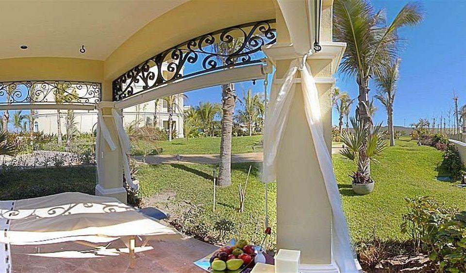 grass tree property Villa mansion home Resort arch backyard hacienda