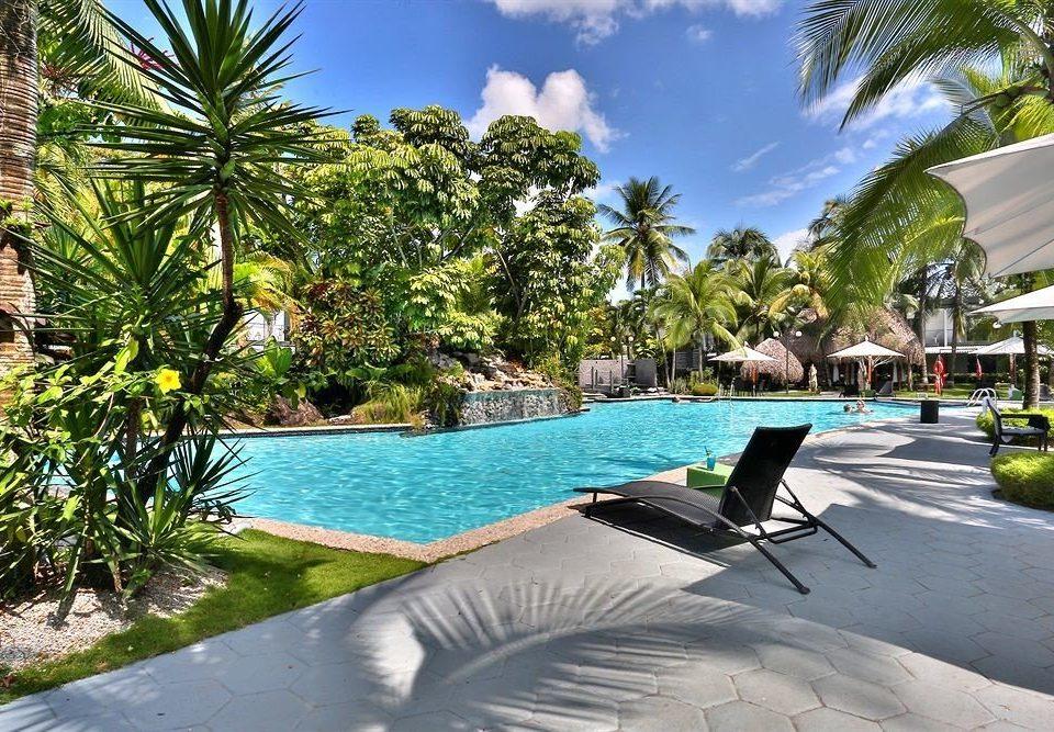 tree swimming pool leisure property Resort palm caribbean arecales condominium Villa walkway backyard plant tropics shore