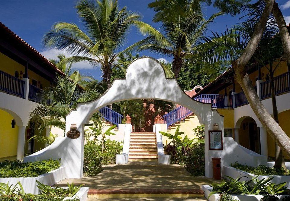 tree sky Resort arecales Villa hacienda mansion caribbean flower palm plant