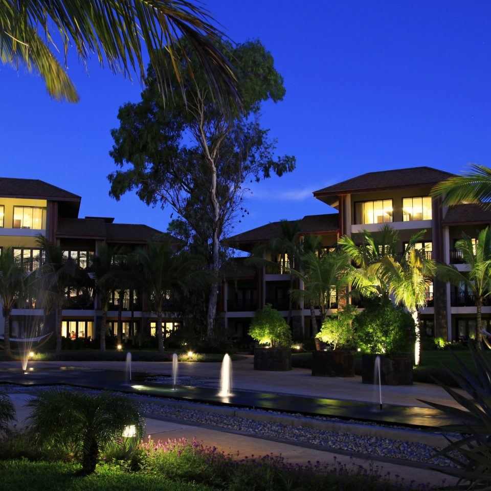 tree sky Resort plant night swimming pool landscape lighting home arecales condominium mansion Villa palm