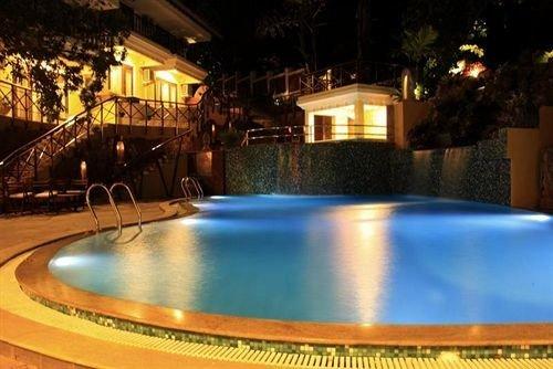swimming pool property leisure Resort blue landscape lighting backyard Villa