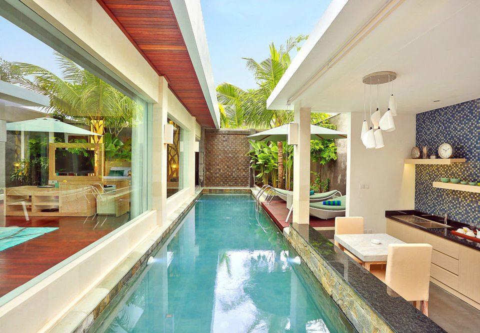 swimming pool property building Resort Villa leisure condominium home cottage mansion backyard