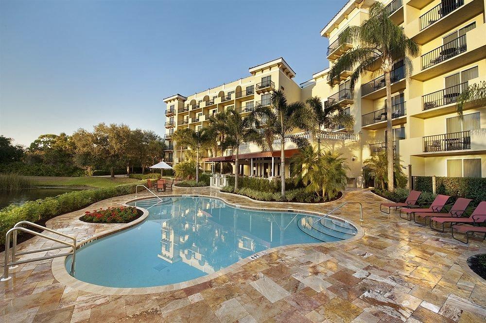 building swimming pool property Resort condominium home mansion Villa residential area backyard