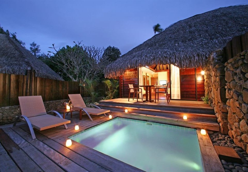 building property swimming pool Villa Resort cottage backyard home eco hotel roof