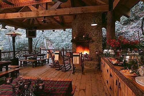 property building Resort wooden cottage restaurant Villa eco hotel tavern hacienda backyard outdoor structure farmhouse log cabin