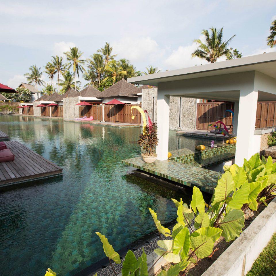 sky property swimming pool building Resort house backyard home Villa cottage stone