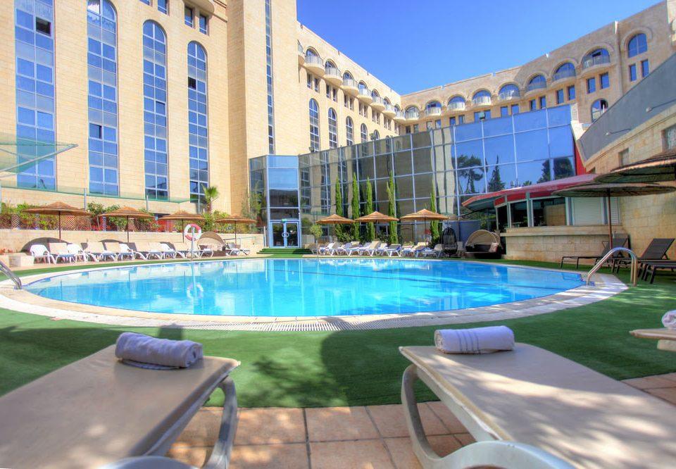 swimming pool property condominium leisure building Resort leisure centre reflecting pool Villa backyard painted