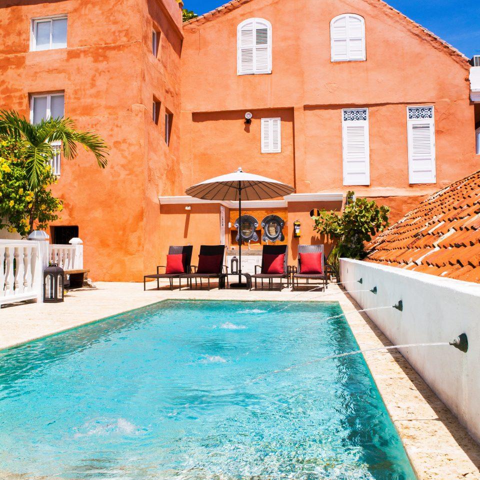 building swimming pool property house Villa Resort home backyard hacienda