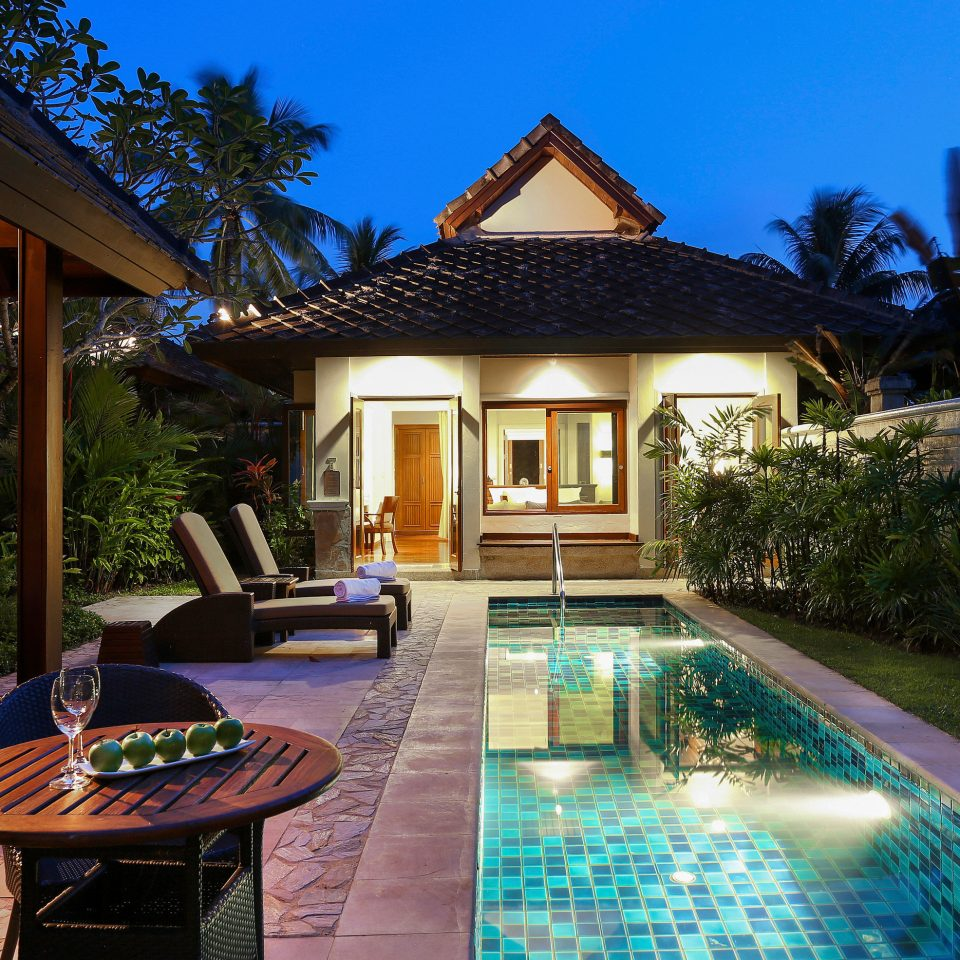 sky property swimming pool Resort building house Villa home mansion backyard cottage eco hotel