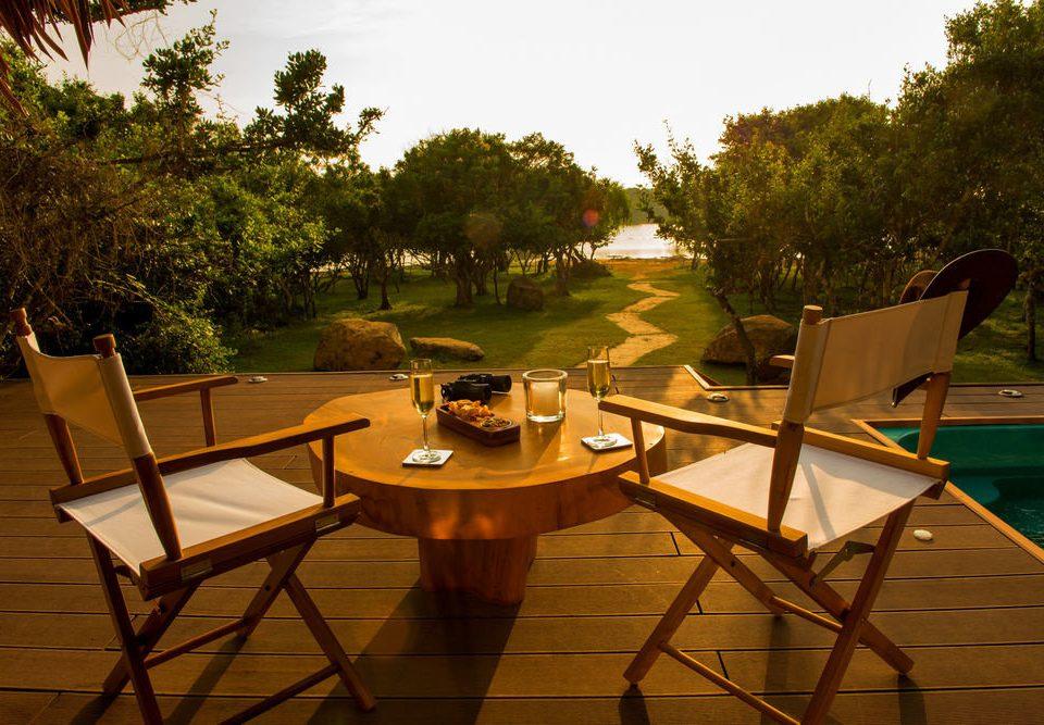 tree chair leisure Resort home backyard Villa restaurant set empty