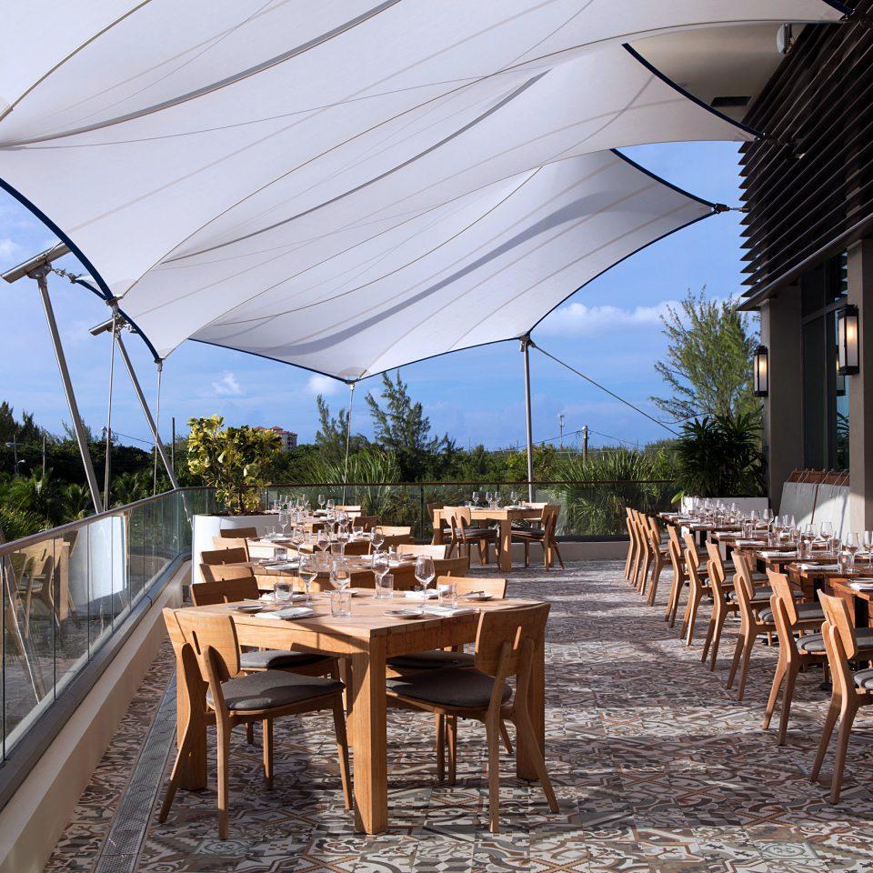 sky chair ground wooden restaurant Resort outdoor structure backyard Villa set