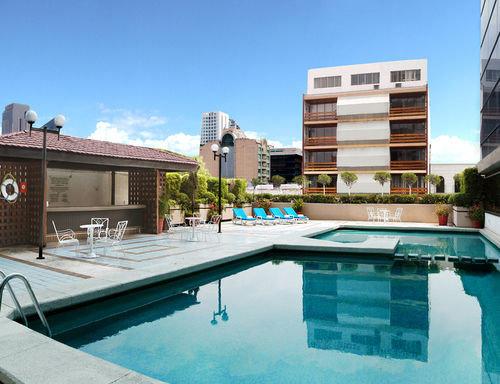 sky swimming pool property condominium reflecting pool home Villa backyard Resort