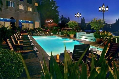 leisure swimming pool property Resort condominium mansion Villa light backyard screenshot landscape lighting set