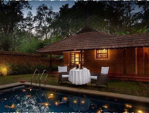 tree property house Resort swimming pool home log cabin backyard landscape lighting cottage Villa screenshot stone