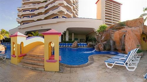 ground property swimming pool Resort Villa hacienda home backyard cottage
