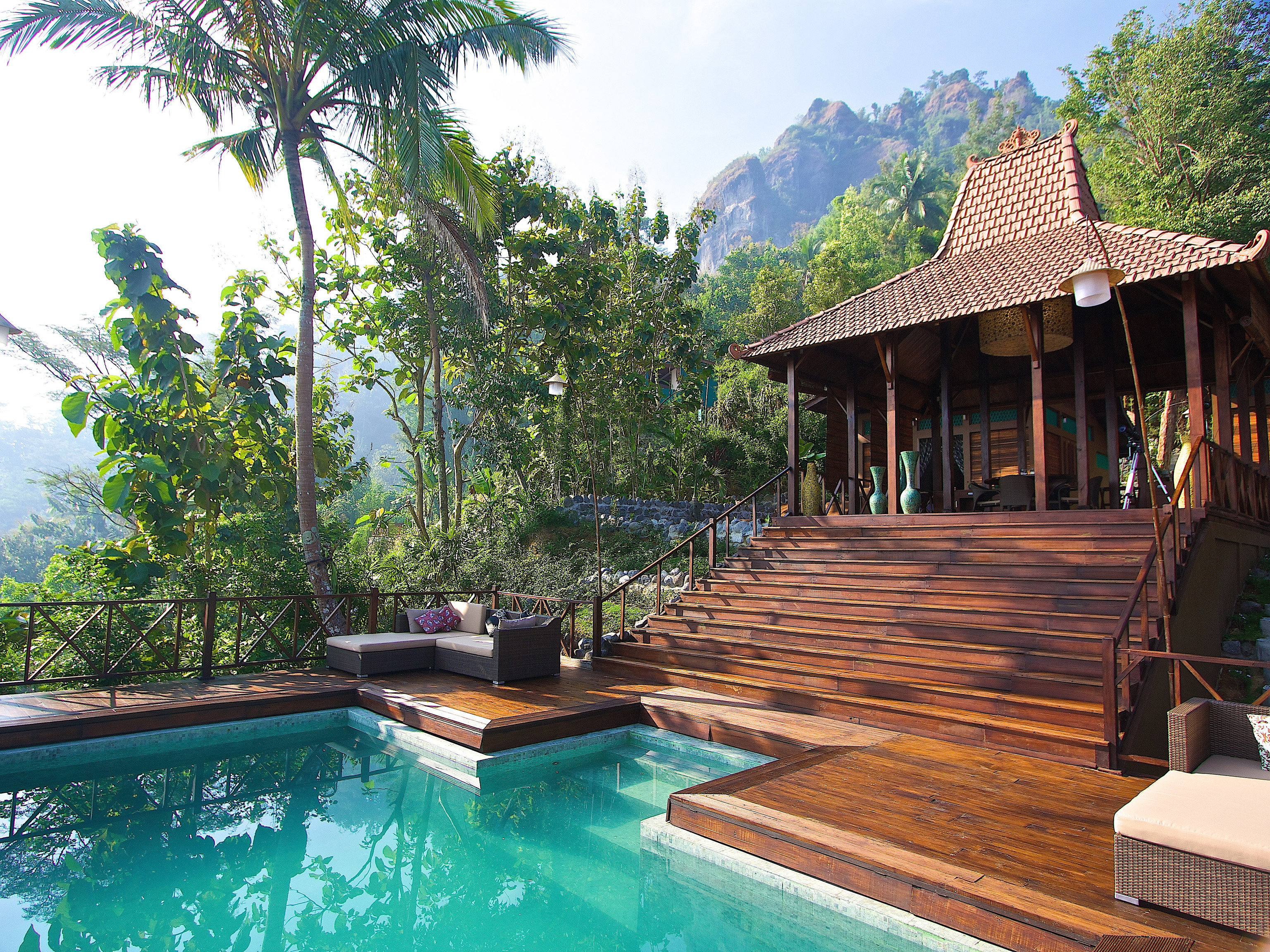tree swimming pool property Resort Villa eco hotel cottage backyard