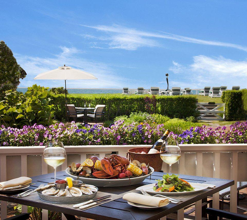 sky plate property home backyard cottage flower restaurant Resort Villa