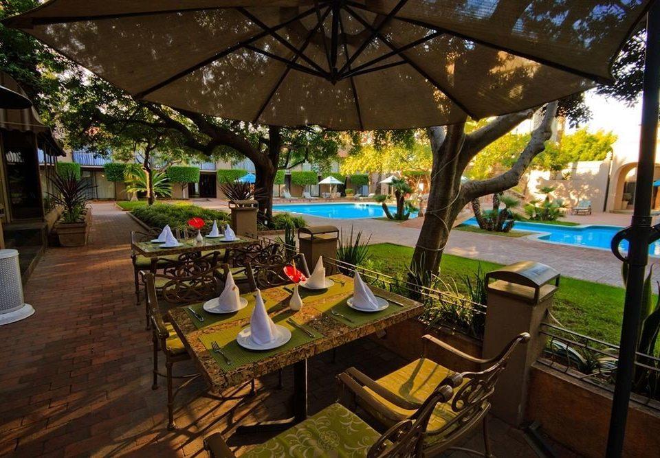 tree leisure Resort restaurant backyard hacienda Villa day