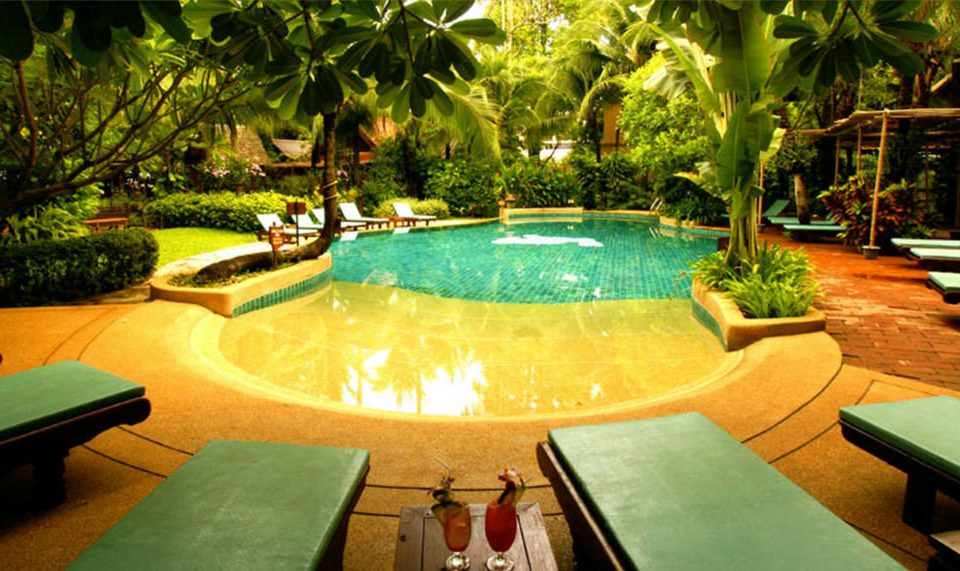 tree swimming pool leisure Resort green backyard Villa eco hotel