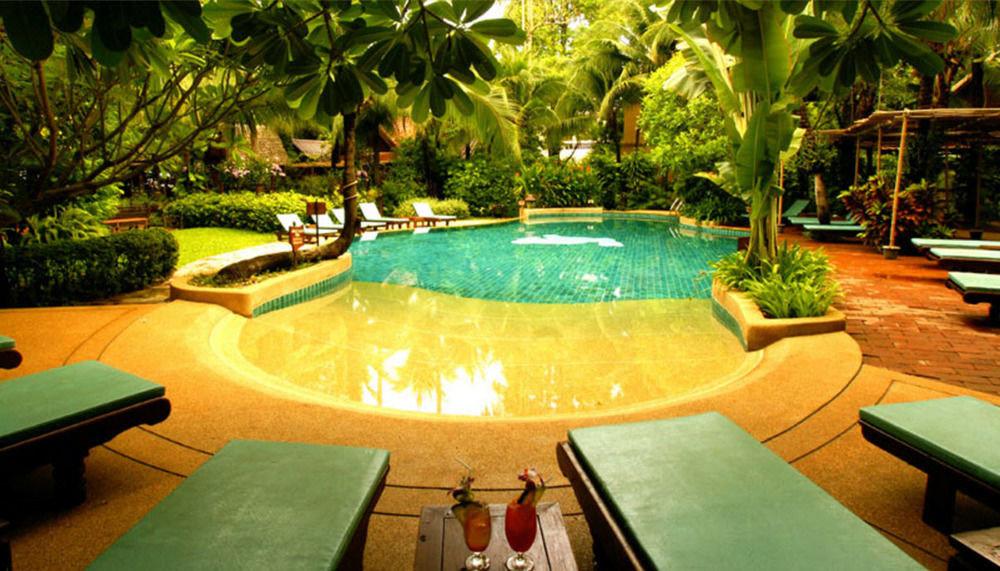 tree swimming pool leisure Resort green backyard Villa eco hotel