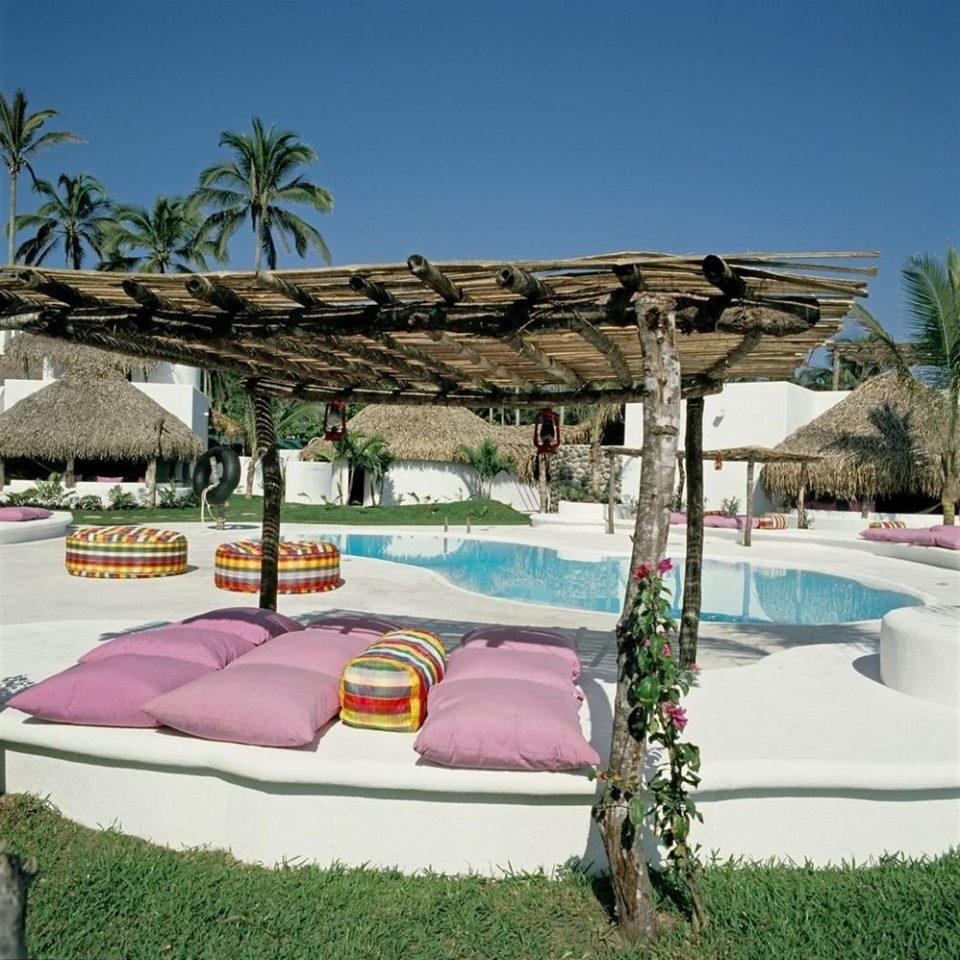 sky grass leisure swimming pool Resort Villa backyard outdoor structure shade