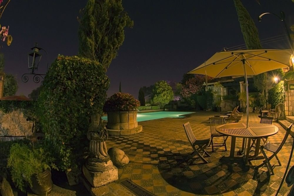 Resort landscape lighting mansion backyard swimming pool lighting screenshot Villa set