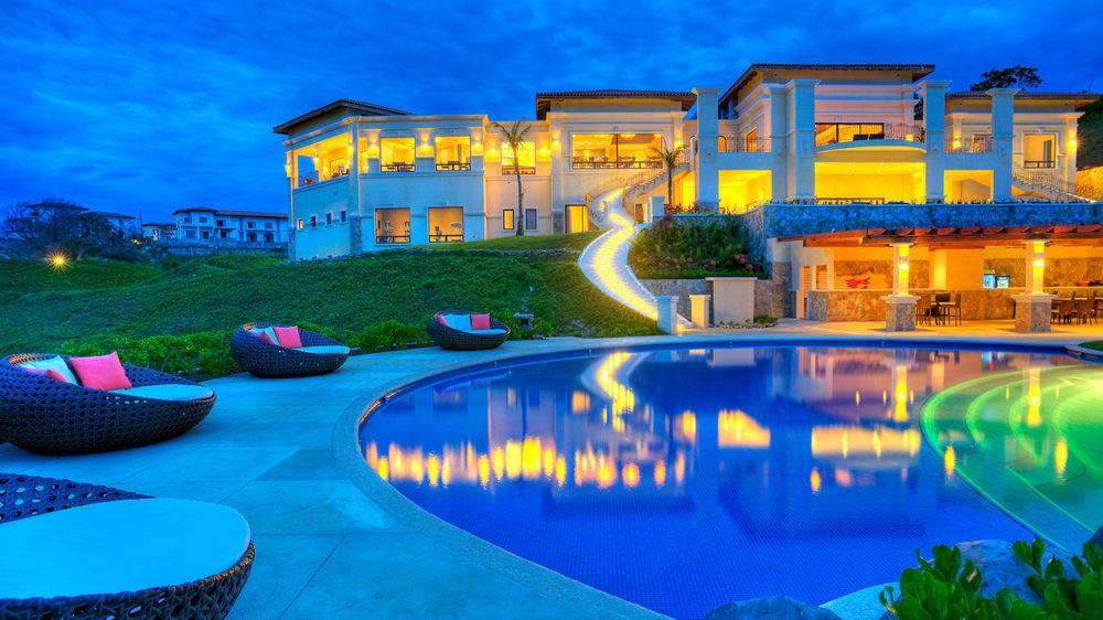swimming pool leisure Resort property colorful resort town mansion blue condominium Villa bright colored