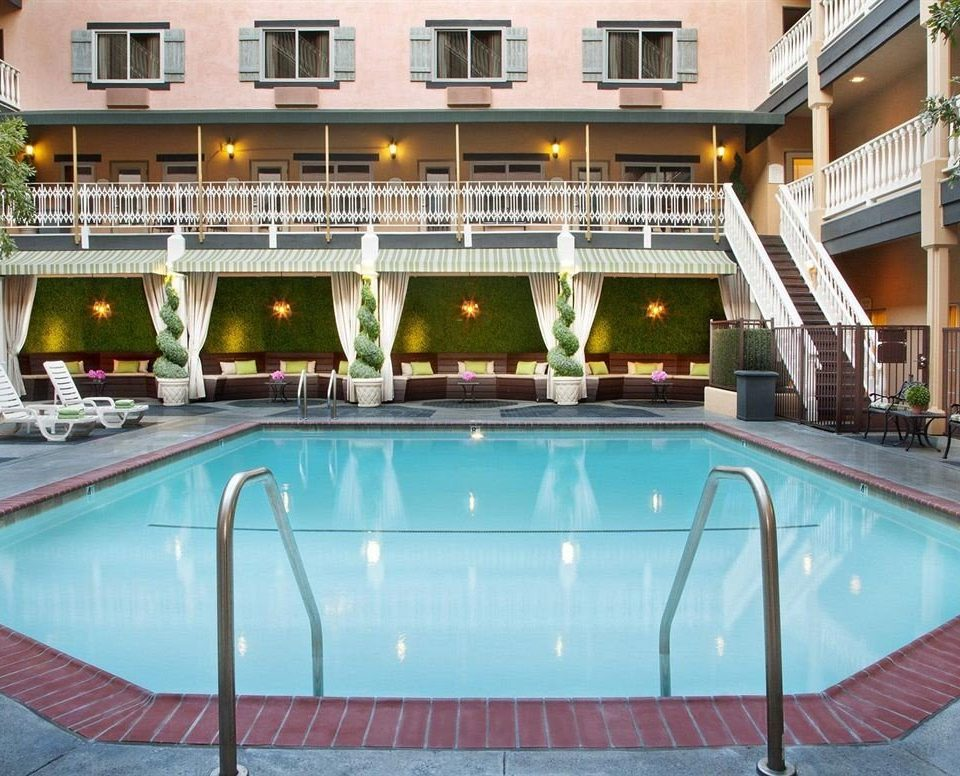 building swimming pool leisure property Resort condominium mansion Villa blue