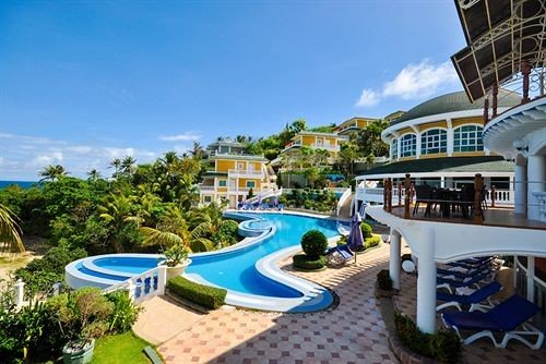 property Resort leisure condominium swimming pool building Villa resort town caribbean mansion marina blue set