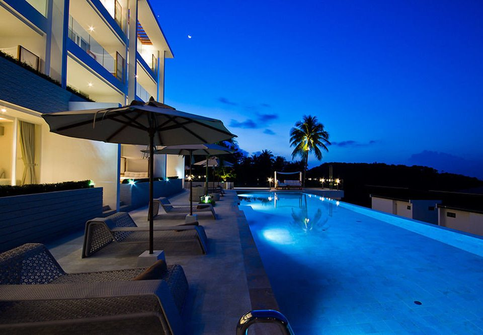 sky swimming pool property Resort house lighting blue Villa condominium sign