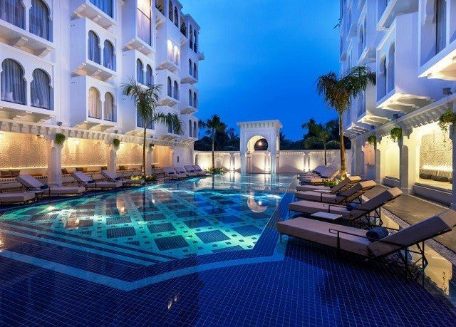 swimming pool property condominium Resort mansion Villa blue