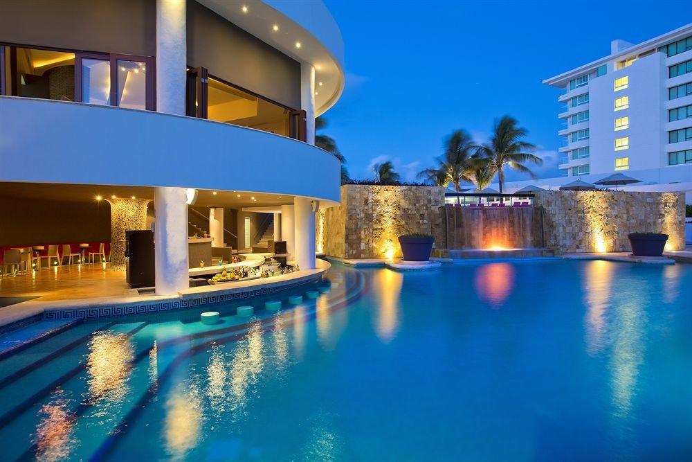 swimming pool property leisure Resort scene condominium blue leisure centre Villa resort town mansion